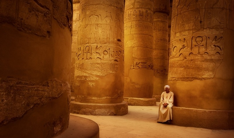 The Great Hypostyle Hall in Karnak Temple