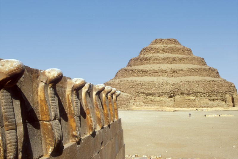The Step Pyramid in Sakkara