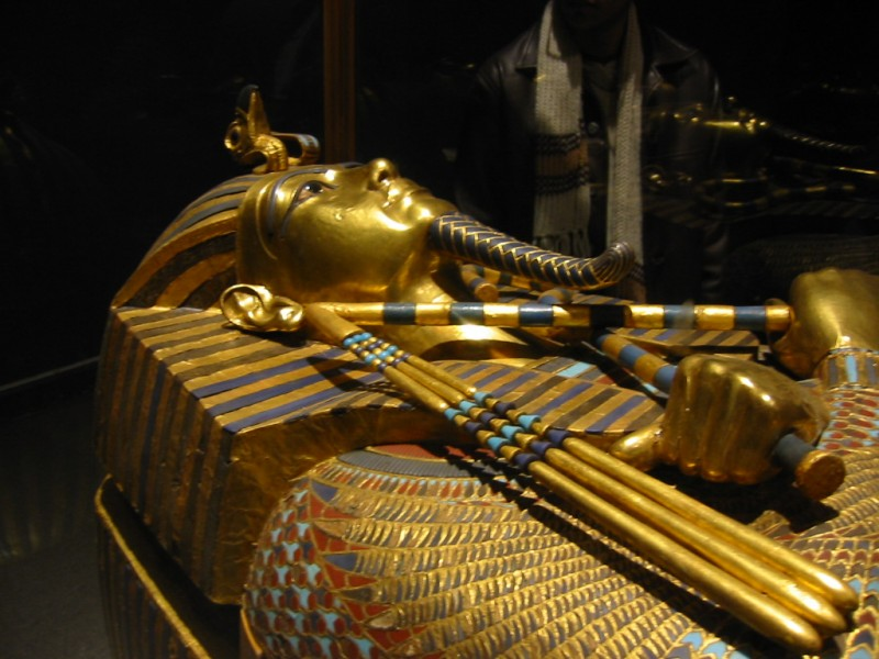 Coffin of King Tut in The Egyptian Museum at Tahrir Square