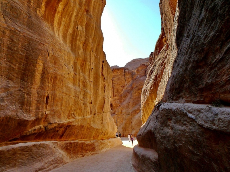 The Siq (The way to Petra)